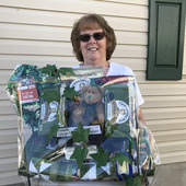 Betty Renner wins St. Patrick's Day Basket March 2021